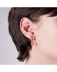 Edge Only - Metallic Button Drop Earrings Gold - Lyst