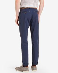 Ted Baker - Blue Tailored Fit Cotton Chinos for Men - Lyst
