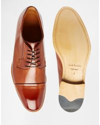 PS by Paul Smith | Brown Ernest Toe Cap Derby Shoes for Men | Lyst