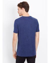 Vince - Blue Linen V-neck Tee for Men - Lyst