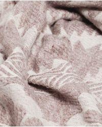 Zara | Natural Jacquard Scarf | Lyst