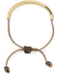 DIESEL | Brown 'aswet' Bracelet | Lyst