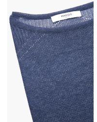 Mango | Blue Openwork Sweater | Lyst