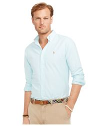 Polo Ralph Lauren - Blue Big And Tall Classic-fit Oxford Shirt for Men - Lyst