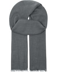 Brunello Cucinelli | Gray Cashmere Scarf for Men | Lyst