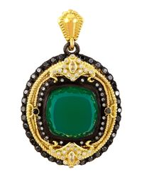 Armenta | Green Onyx & Diamond Oval Enhancer | Lyst