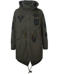 Diesel Black Gold - Green 'jalang-patch' Parka for Men - Lyst