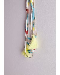 Missguided - Multicolor Beaded Layered Necklace Multi - Lyst