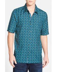 Nat Nast - Blue 'ritts' Regular Fit Short Sleeve Silk Sport Shirt for Men - Lyst