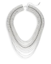 Saks Fifth Avenue | Metallic Draped Nested Chain Necklace | Lyst