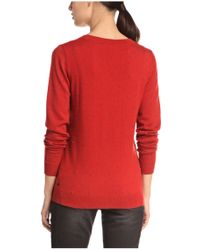 BOSS Orange - Red 'widy' | Virgin Wool Cashmere Beaded Sweater - Lyst