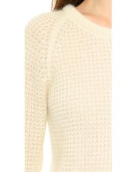 M.i.h Jeans - White The Waffle Sweater Vanilla - Lyst