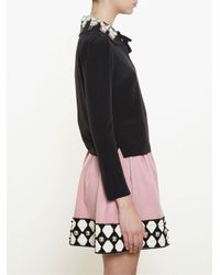 Olympia Le-Tan - Black Nutcracker Embroidered Collar Blouse - Lyst