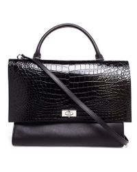 Givenchy - Black Large 'shark' Tote - Lyst