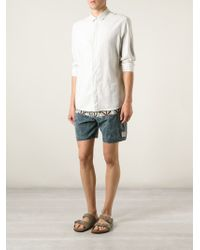 Vans - Blue Mixed Print Bermuda Shorts for Men - Lyst