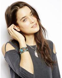 ASOS - Multicolor Festival Stone Cuff Bracelet - Lyst