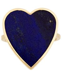 Jennifer Meyer | Blue Heart Ring-colorless | Lyst