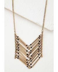 Forever 21 - Metallic Stacked Bar Pendant Necklace - Lyst