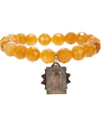 Miracle Icons - Yellow Jade Charm Bracelet for Men - Lyst