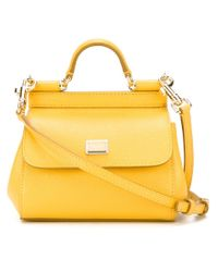 Dolce & Gabbana | Yellow Borsa Mini Miss Sicily | Lyst