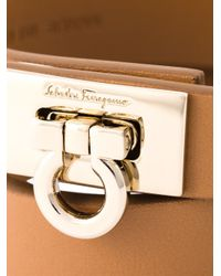 Ferragamo | Brown Gancio Wrap Around Bracelet | Lyst