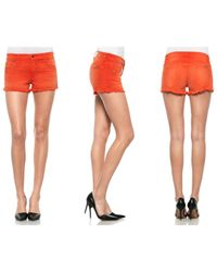 Joe's Jeans | Red Cut Off Short | Lyst