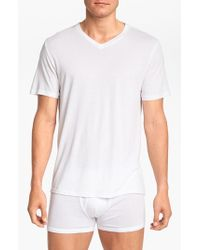 Michael Kors | White 'soft Touch' V-neck T-shirt, (3-pack) for Men | Lyst