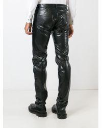 Comme des Garçons - Black Straight Leg Trousers for Men - Lyst