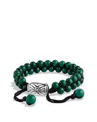 David Yurman | Green Spiritual Beads Two-row Bracelet, 6mm for Men | Lyst