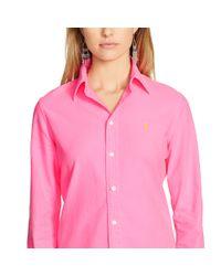 Polo Ralph Lauren - Pink Custom-fit Cotton Oxford Shirt - Lyst
