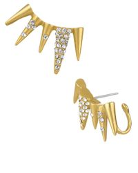 Sam Edelman | Metallic Pave Spike Ear Cuffs | Lyst