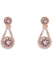 Ted Baker | Pink Stormm Crystal Chain Drop Earrings | Lyst