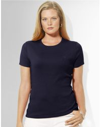 Lauren by Ralph Lauren | Blue Plus Short-sleeved Crewneck T-shirt | Lyst