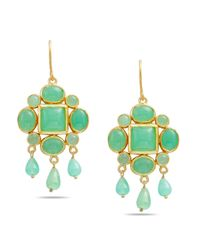 Emma Chapman Jewels | Green Magdalen Chrysophase Chandelier Earrings | Lyst