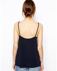 ASOS | Blue Longline Woven Cami Top | Lyst