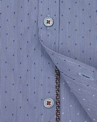 Ted Baker | Blue Micro Checked Dobby Shirt for Men | Lyst