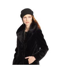 Denim & Supply Ralph Lauren - Black Faux-fur Coat - Lyst