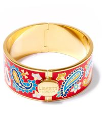 Liberty - Red Denby Paisley Multicolour Thick Cuff - Lyst