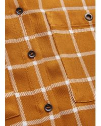 Mango - Orange Chest-pocket Check Shirt - Lyst