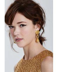 Nasty Gal | Metallic Vintage Chanel Fretwork Bell Earrings | Lyst