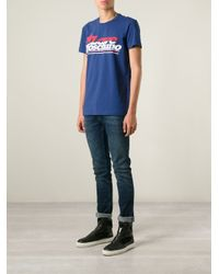 Love Moschino - Blue Printed T-Shirt for Men - Lyst