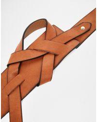 ASOS - Brown Loop Detail Waist Belt - Lyst