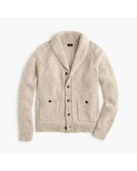 J.Crew | Natural Italian Wool Shawl-collar Cardigan Sweater for Men | Lyst