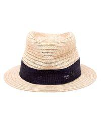 Maison Michel - Blue 'jim' Trilby Hat - Lyst