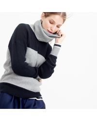 J.Crew - Black Collection Cashmere Two-tone Turtleneck Sweater - Lyst