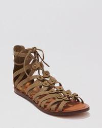Dolce Vita - Brown Flat Gladiator Sandals - Fray - Lyst
