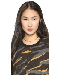Vanessa Mooney - Metallic The Stardust Delicate Choker - Gold - Lyst