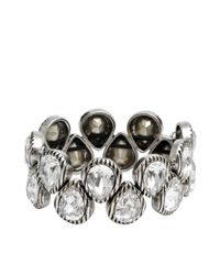 Philippe Audibert - Metallic Silver Drop Bracelet - Lyst