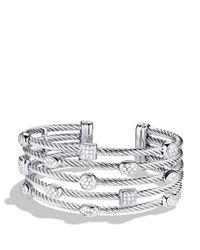 David Yurman - Metallic Confetti Five-Row Cuff With Diamonds - Lyst