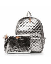 MZ Wallace - Metallic Chrome Oxford Metro Backpack - Lyst